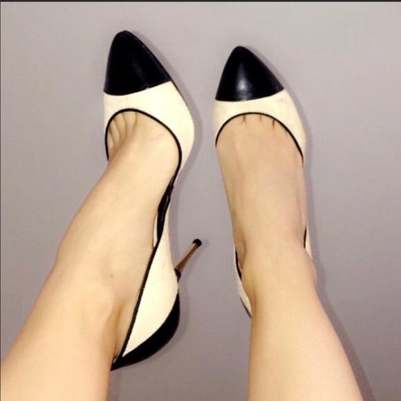 Karen Millen Black Crystal Studded Stiletto Heels Courts Dress Shoes Pumps 5 38